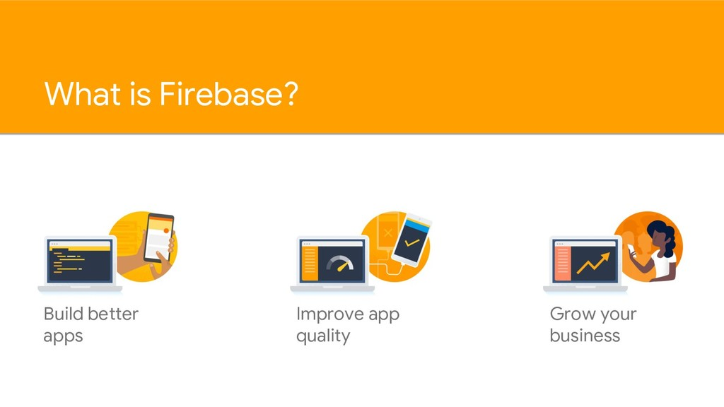 What is Firebase? Build better apps Improve app...