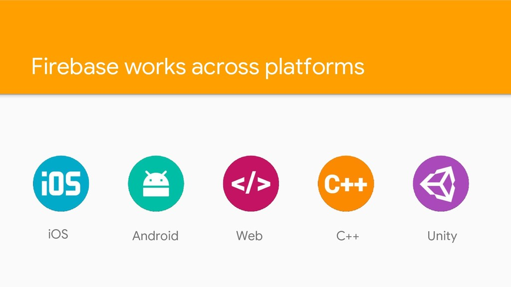 Firebase works across platforms iOS Android Web...