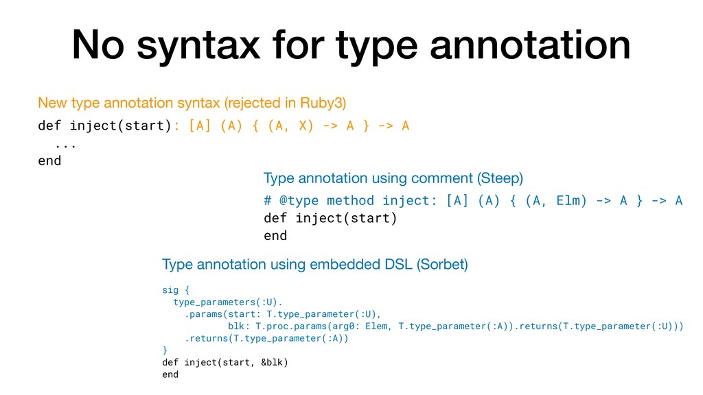 No syntax for type annotation def inject(start)...