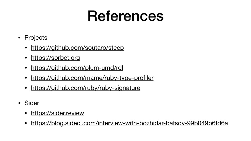 References • Projects  • https://github.com/sou...