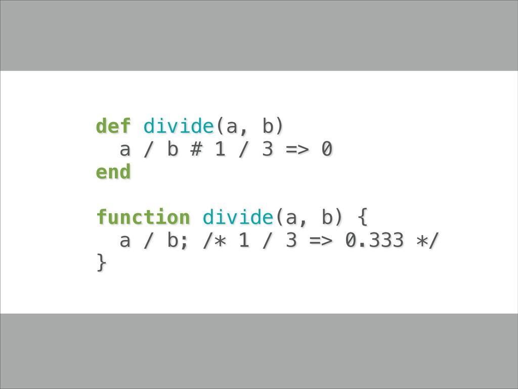 def divide(a, b) a / b # 1 / 3 => 0 end ! funct...