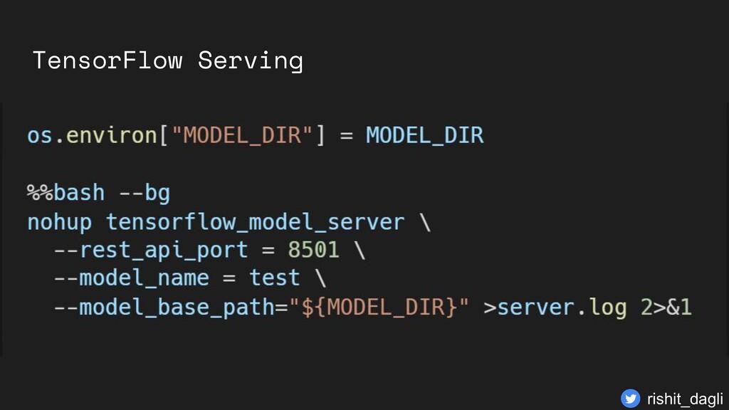 TensorFlow Serving rishit_dagli