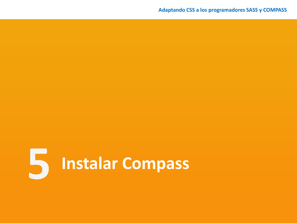 Instalar Compass Adaptando CSS a los programado...