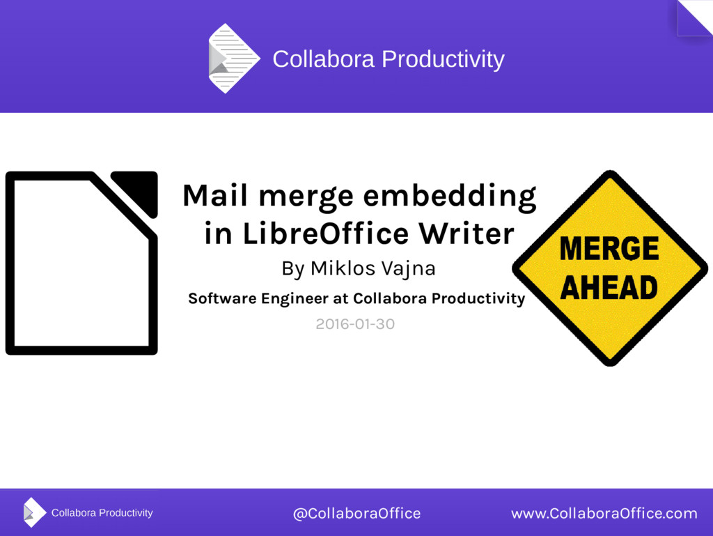 Mail merge embedding in LibreOffice Writer By M...