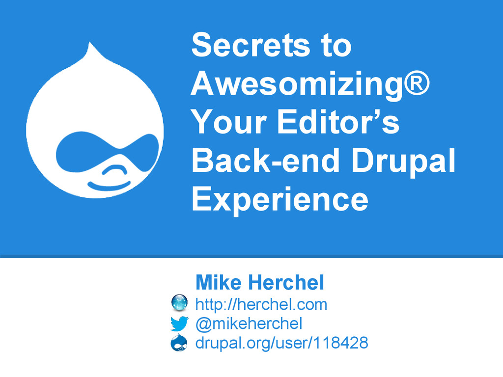 Secrets to Awesomizing® Your Editor's Back-end ...