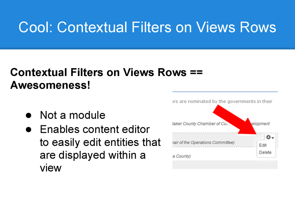 Cool: Contextual Filters on Views Rows Contextu...