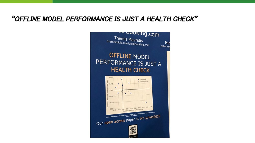 """""""OFFLINE MODEL PERFORMANCE IS JUST A HEALTH CHE..."""