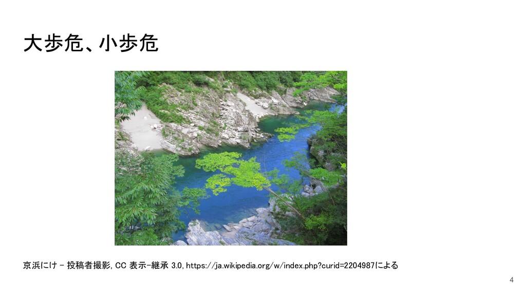 大歩危、小歩危         京浜にけ - 投稿者撮影, CC 表示-継承 ...