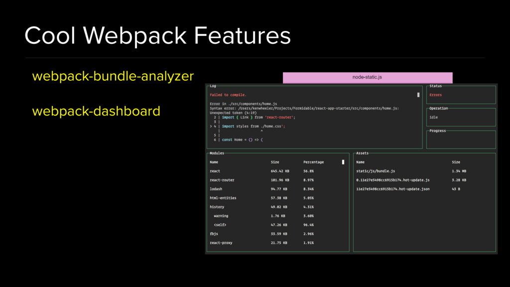 Cool Webpack Features webpack-bundle-analyzer w...