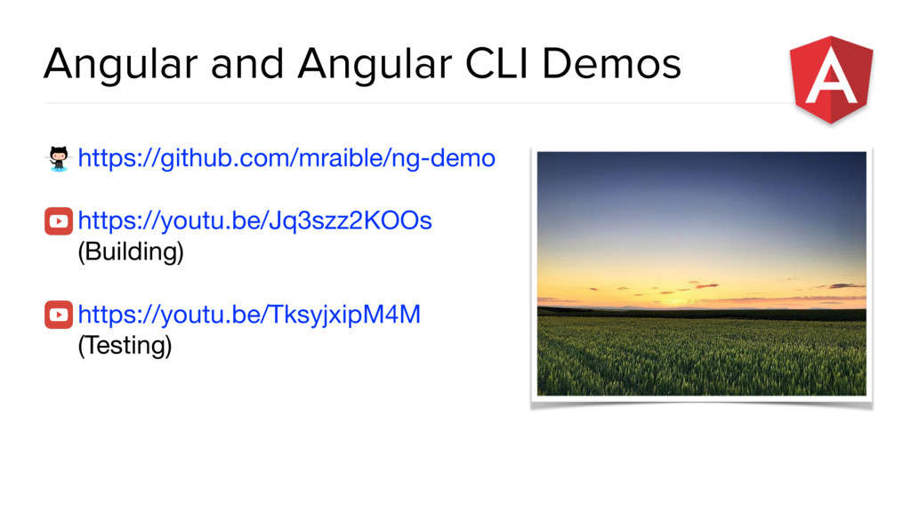 Angular and Angular CLI Demos https://github.co...