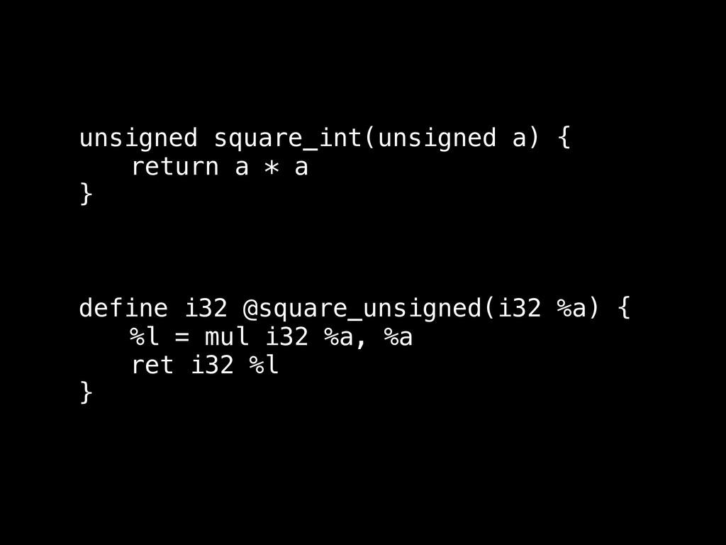 unsigned square_int(unsigned a) { return a * a ...