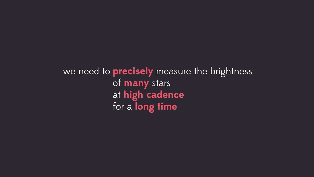 precisely measure the brightness of many stars ...