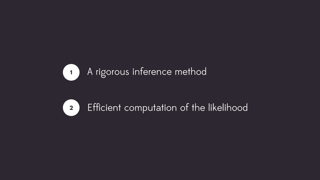 A rigorous inference method Efficient computatio...