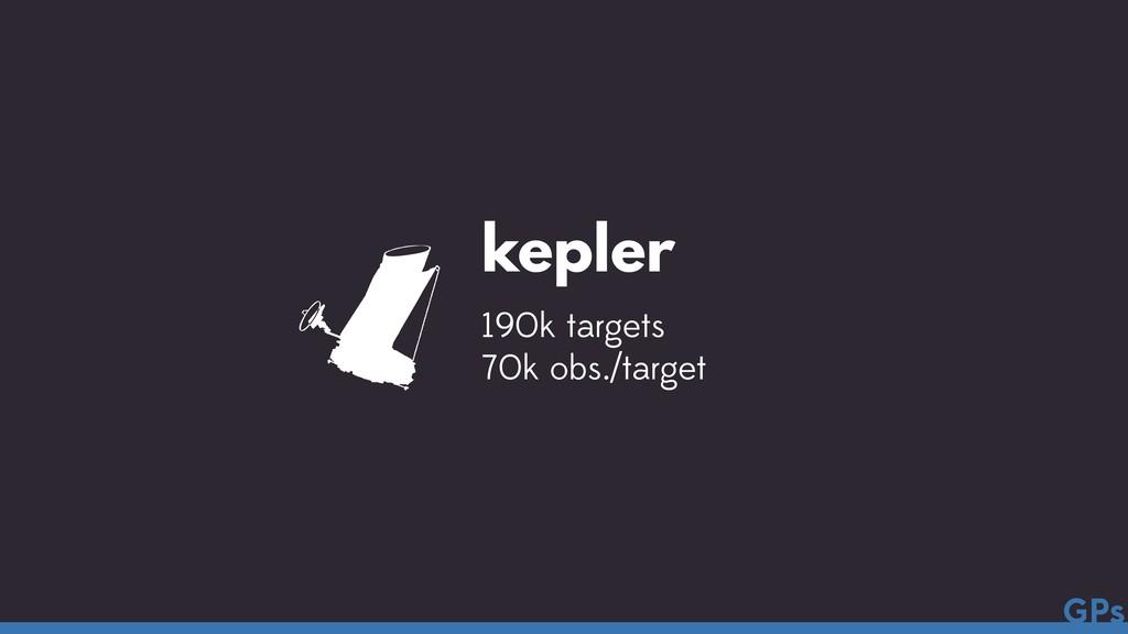 kepler 190k targets 70k obs./target  GPs