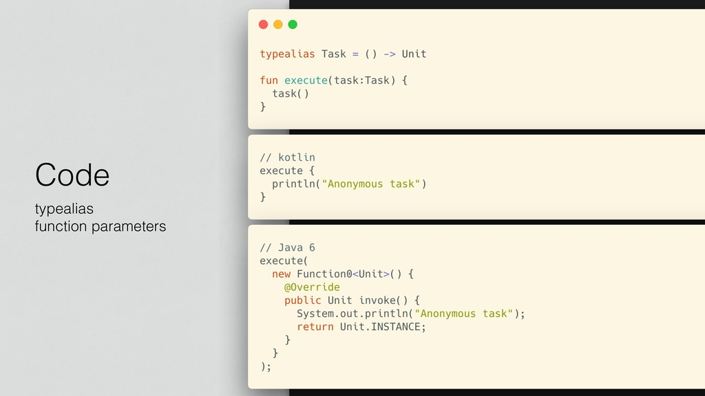 Code typealias function parameters