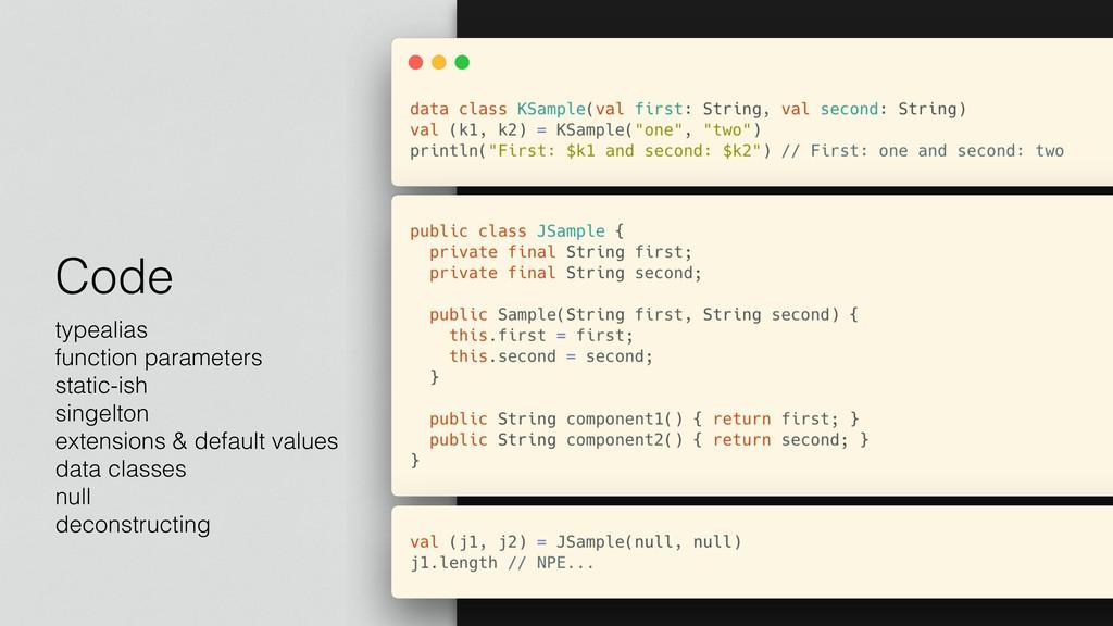 Code typealias function parameters static-ish s...