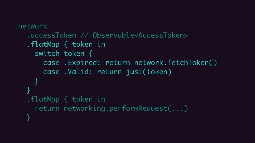 network .accessToken // Observable<AccessToken>...