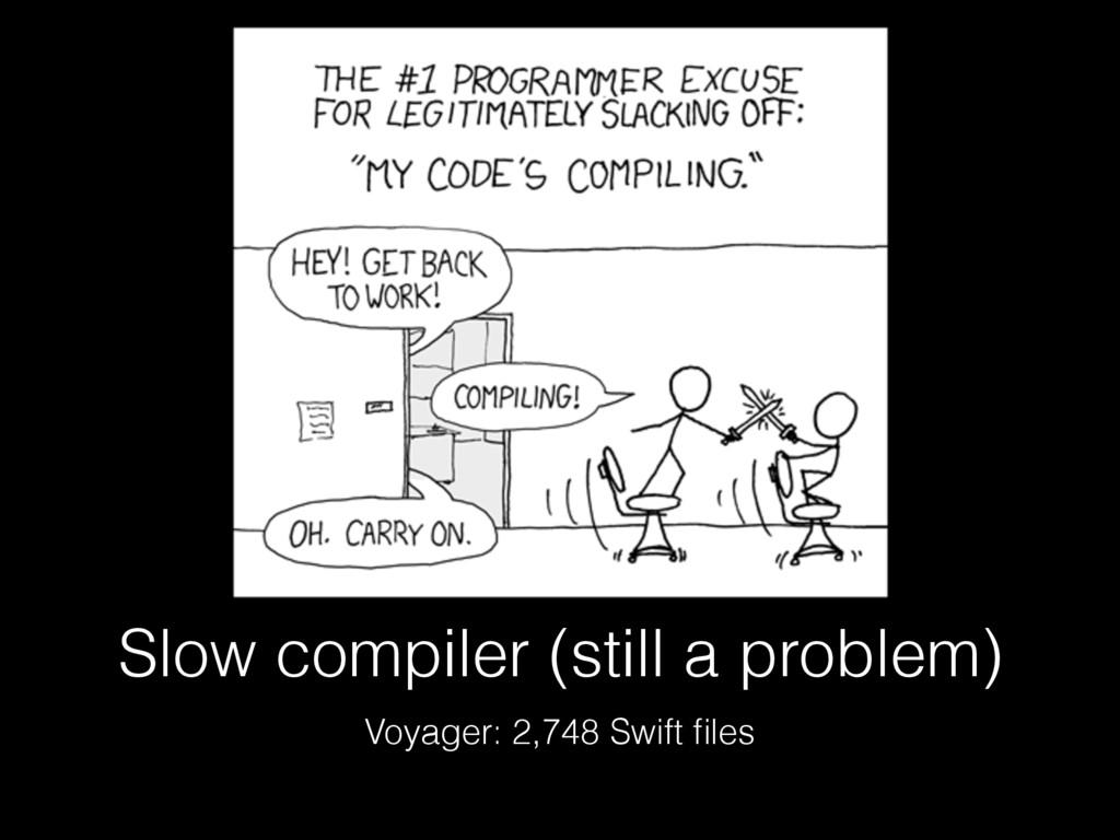 Slow compiler (still a problem) Voyager: 2,748 ...