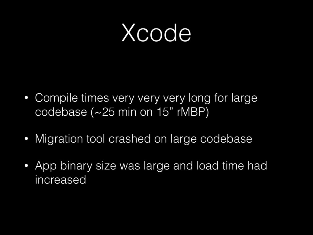 Xcode • Compile times very very very long for l...