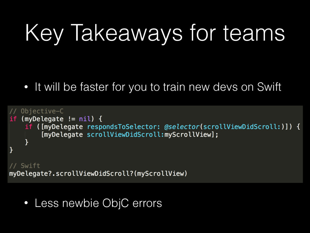 Key Takeaways for teams • It will be faster for...