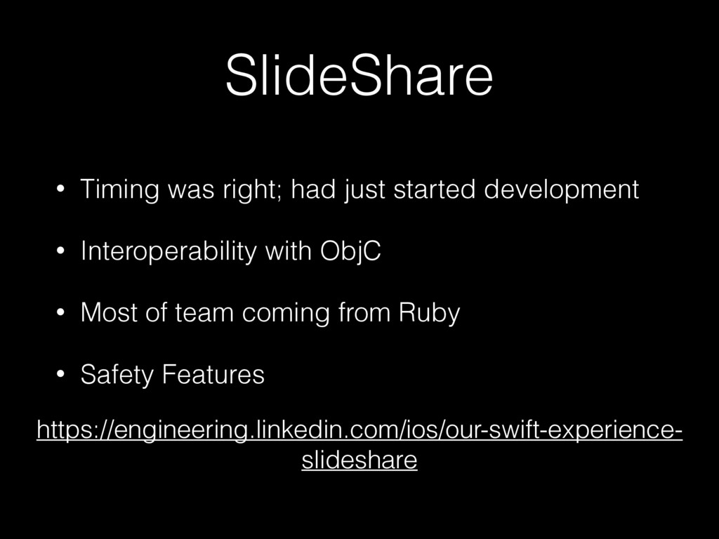 SlideShare • Timing was right; had just started...