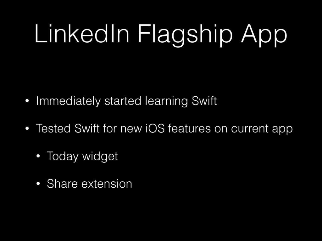 LinkedIn Flagship App • Immediately started lea...