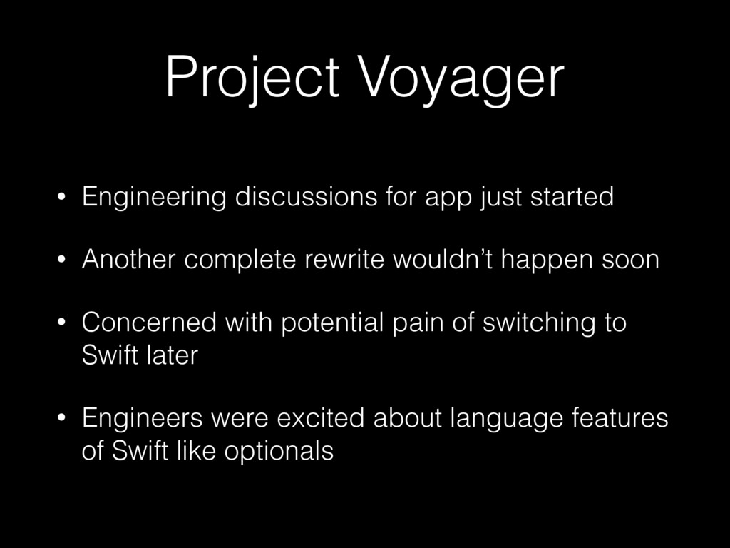 Project Voyager • Engineering discussions for a...