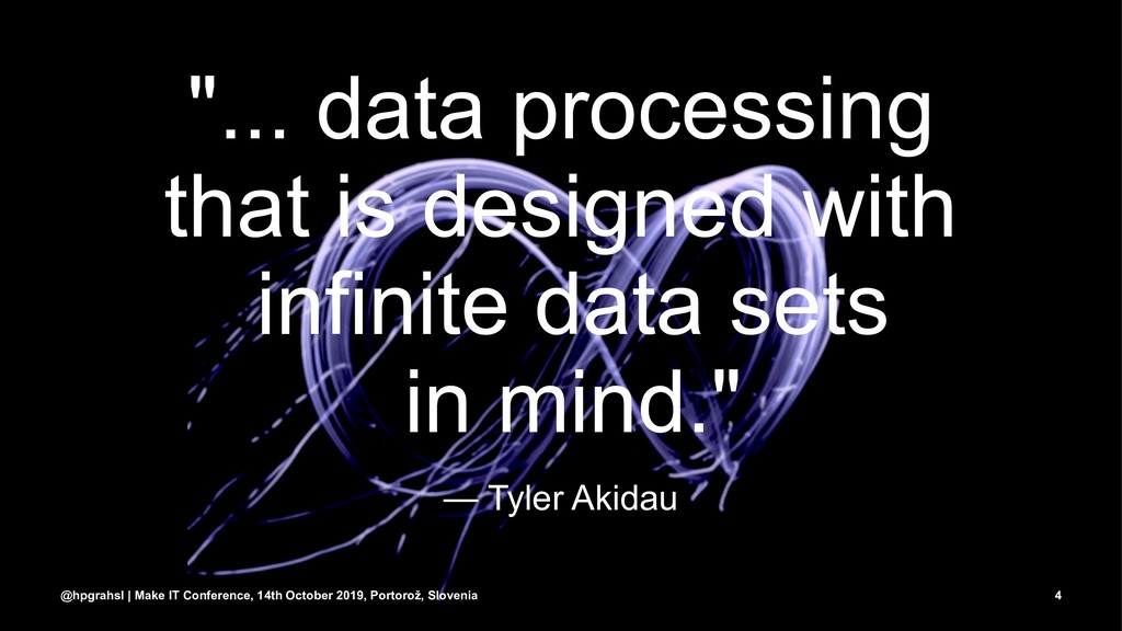"""... data processing that is designed with infi..."