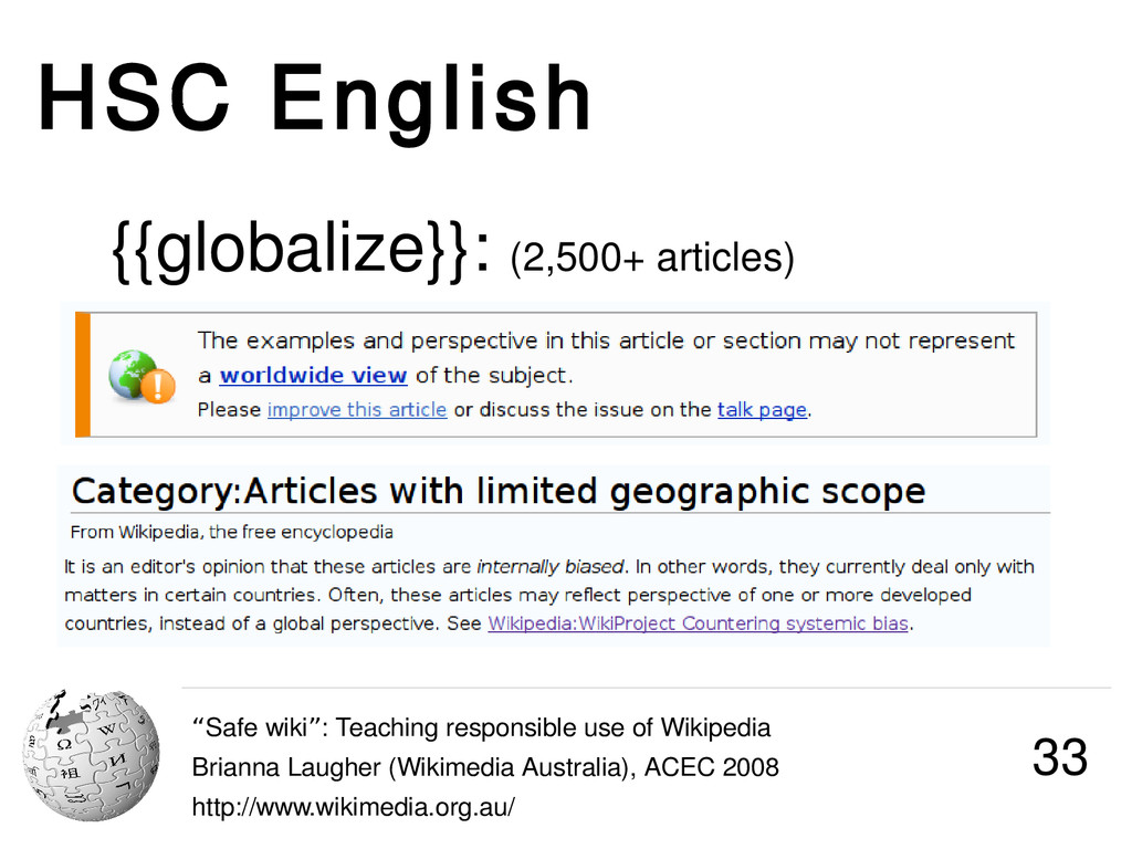 """HSC English """"Safe wiki : Teaching responsible u..."""