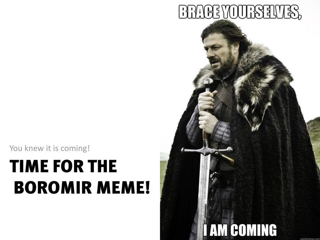You knew it is coming!