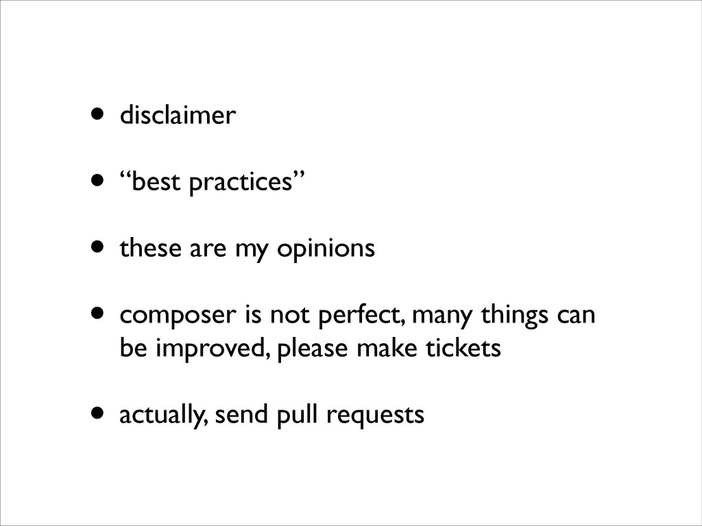 • disclaimer	 