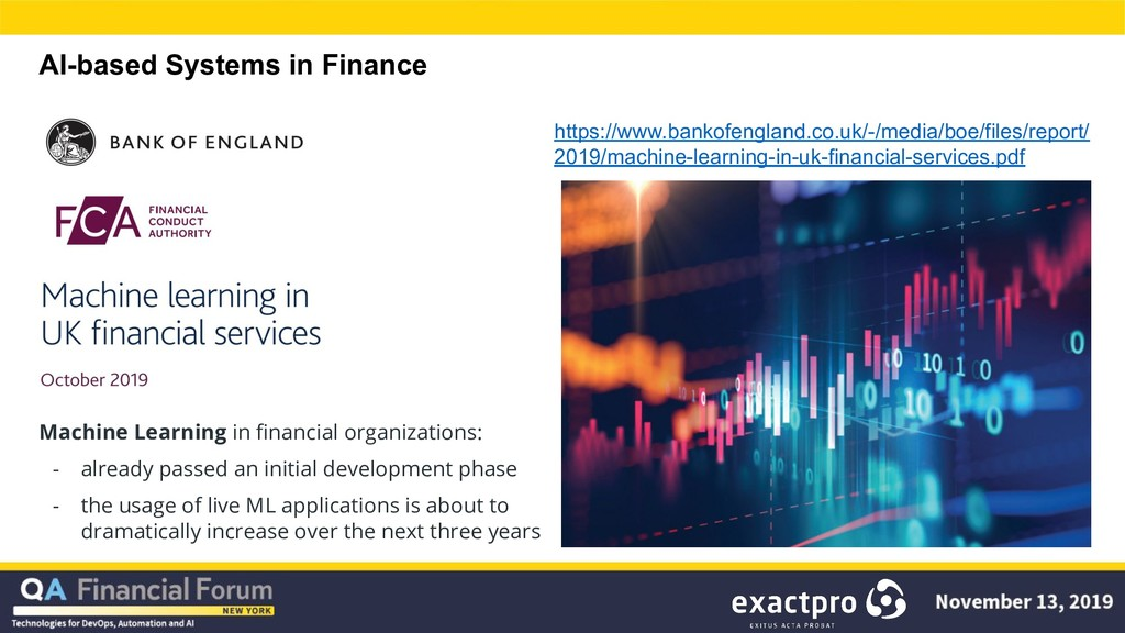 AI-based Systems in Finance Machine Learning in...
