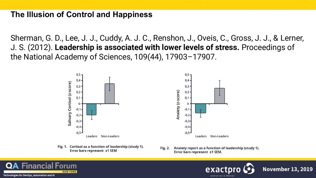 The Illusion of Control and Happiness Sherman, ...