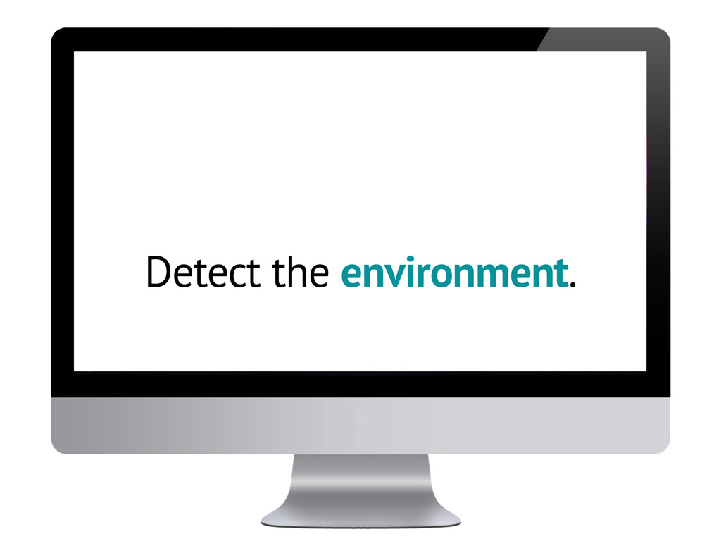 Detect the environment.