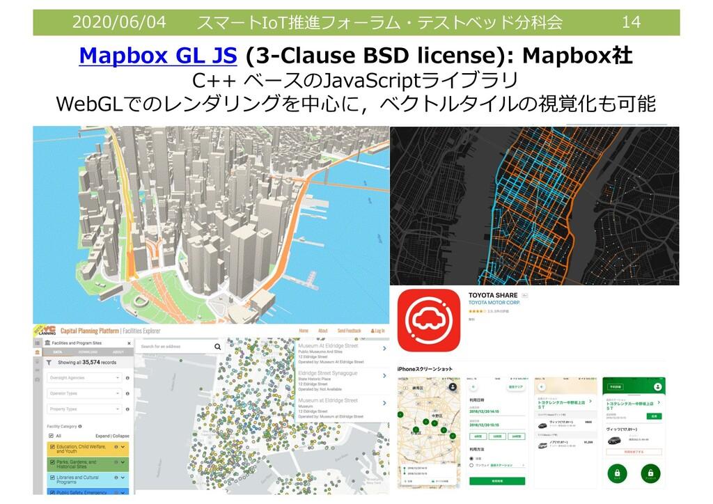 2020/06/04 スマートIoT推進フォーラム・テストベッド分科会 14 Mapbox G...
