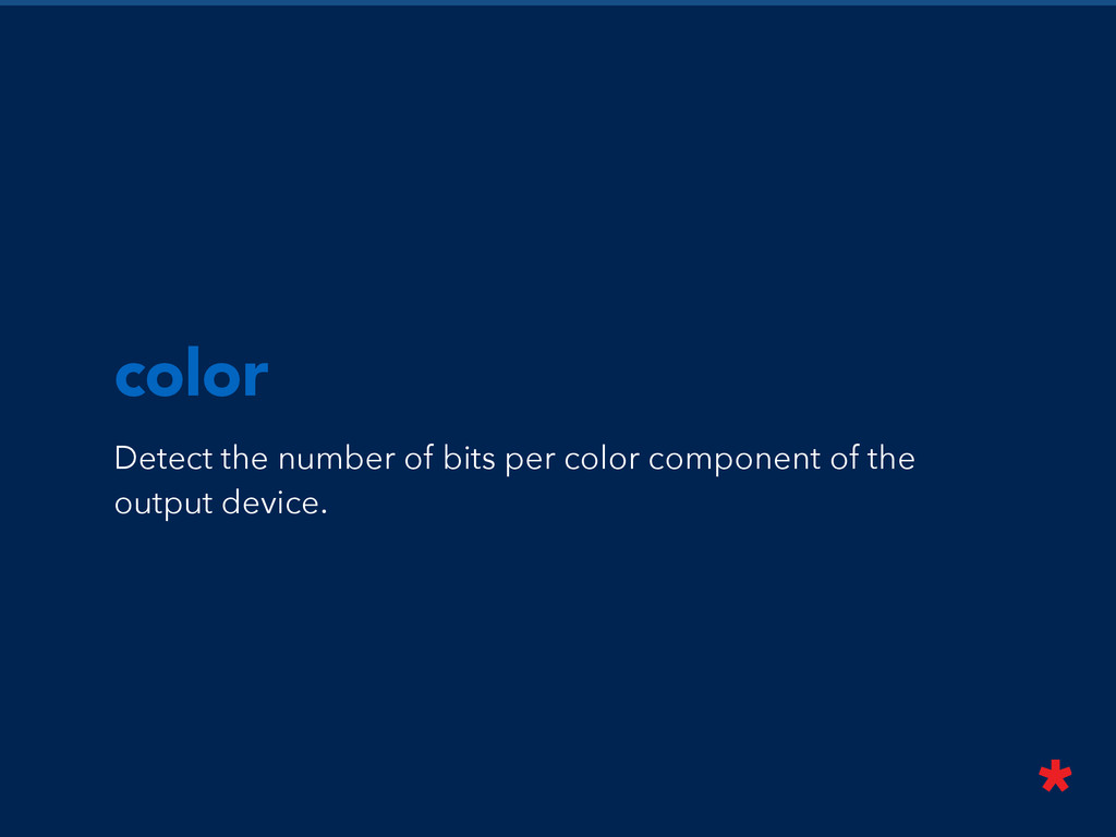 color Detect the number of bits per color compo...