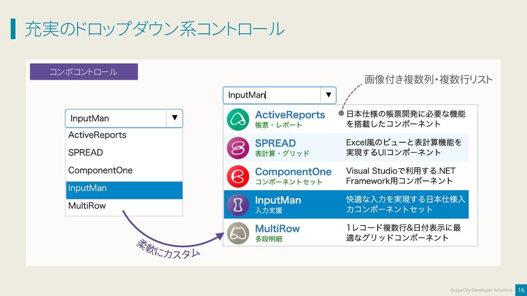 充実のドロップダウン系コントロール 16 GrapeCity Developer Soluti...