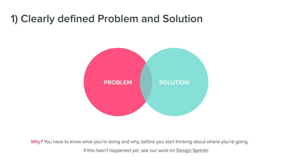 1) Clearly defined Problem and Solution Why? You...