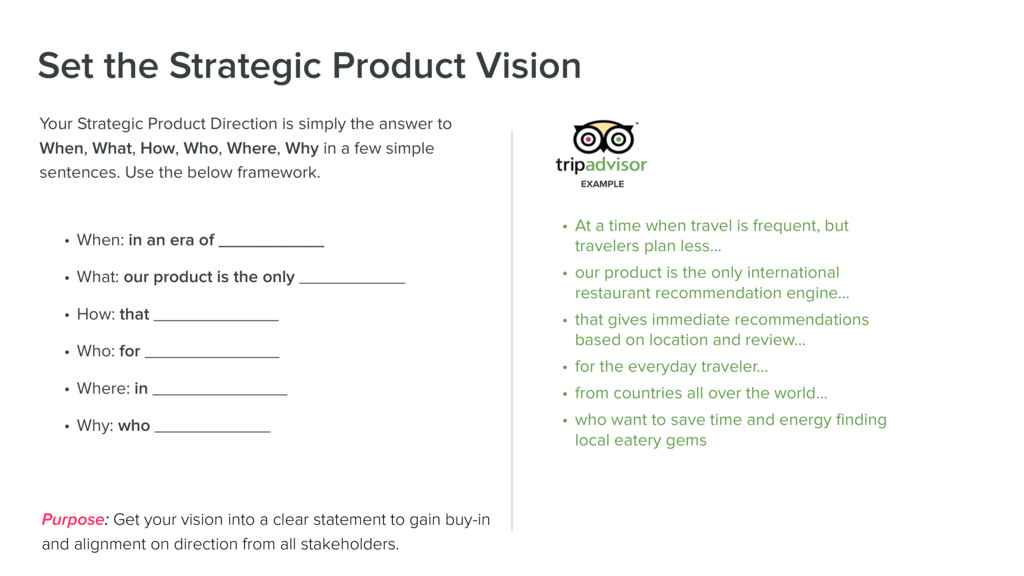Set the Strategic Product Vision Your Strategic...