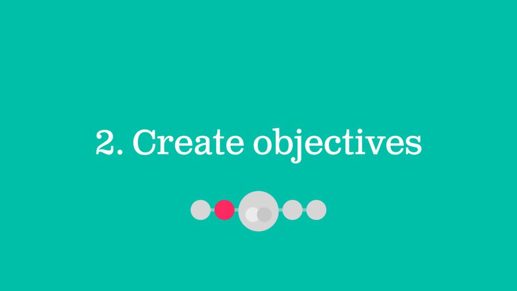 2. Create objectives