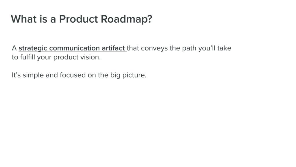 What is a Product Roadmap? A strategic communic...