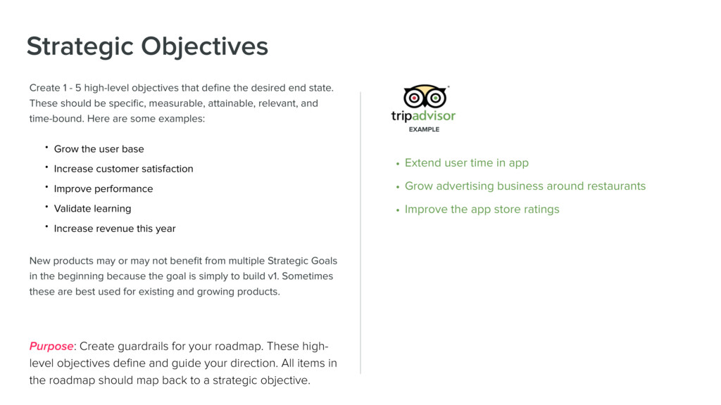 Strategic Objectives Create 1 - 5 high-level ob...