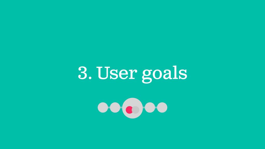 3. User goals
