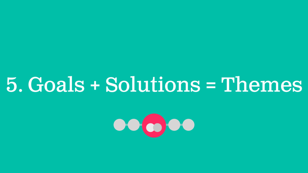5. Goals + Solutions = Themes