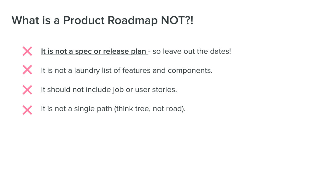 What is a Product Roadmap NOT?! It is not a spe...