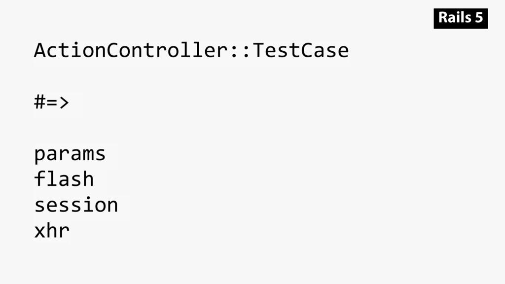 ActionController::TestCase #=> params flash ses...