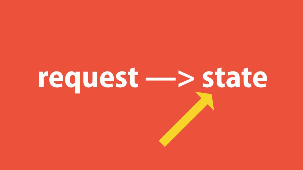 request —> state