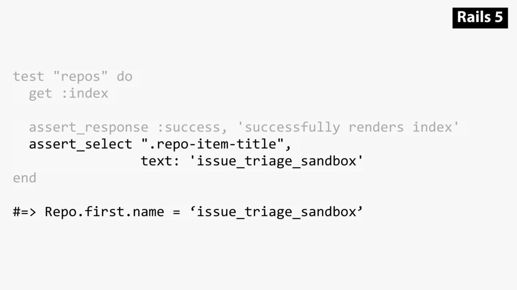 "test ""repos"" do get :index assert_response :suc..."