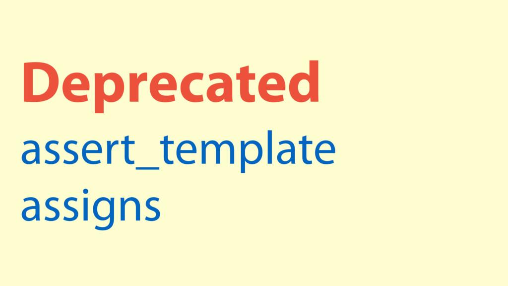 Deprecated assert_template assigns
