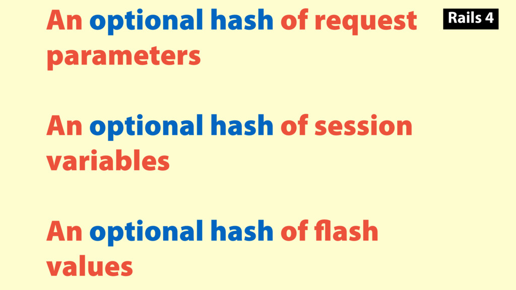 An optional hash of request parameters An optio...